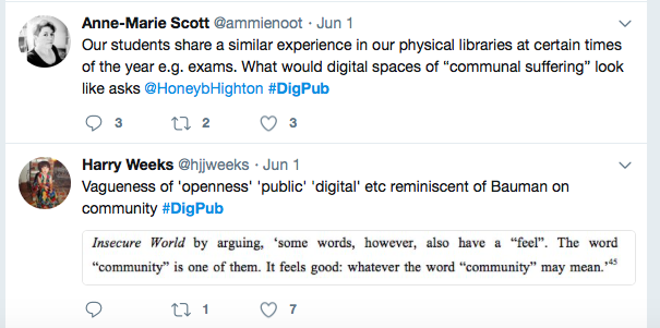 twitter thread about libraries
